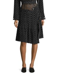 Sandy Liang - Asymmetric Silk Polka-dot Skirt - Lyst