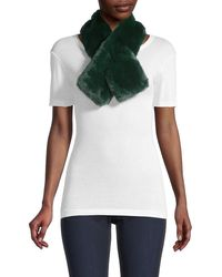 Saks Fifth Avenue Faux Fur Pull-through Scarf - Green