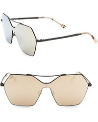 Web - Mask Pentagon Metal Sunglasses - Lyst