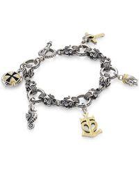 Konstantino - Gaia Sterling Silver Charm Bracelet - Lyst