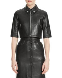 Maje - Brittany Leather Jacket - Lyst