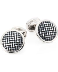 Saks Fifth Avenue Collection Check Cuff Links - Metallic