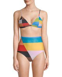 Mara Hoffman - Astrid Rainbow Bikini Top - Lyst