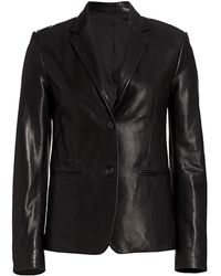 Helmut Lang Leather Blazer - Black