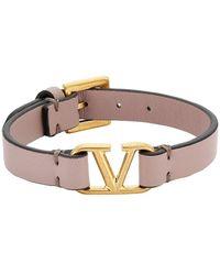 Valentino Garavani Valentino Garavani Vlogo Leather Bracelet - Multicolor