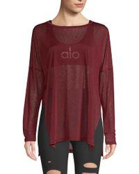 Alo Yoga - Arrow Oversize Long Sleeve Tee - Lyst