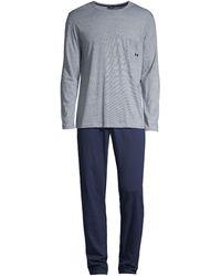 Hom Comfort 2-piece Jersey Pajamas - Blue