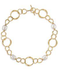 Majorica - Baroque Pearl Collar Necklace - Lyst