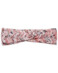 Missoni Woven Zigzag Knotted Headband - Pink