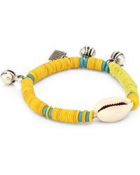 DANNIJO Conch Beaded Bracelet - Yellow