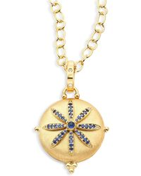 Temple St. Clair - Celestial Sorcerer Diamond, Blue Sapphire & 18k Yellow Gold Locket - Lyst