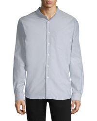 A.P.C. - Collarless Button-down Sportshirt - Lyst