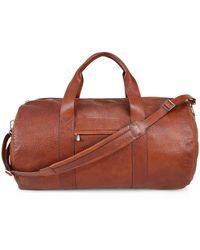 Brunello Cucinelli Textured Leather Duffle Bag - Multicolor