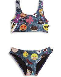 Terez - Little Girl's & Girl's Two-piece Emoji Bikini Set - Lyst