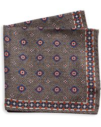 Saks Fifth Avenue - Collection Silk Medallion Pocket Square - Lyst