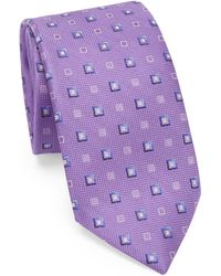 Saks Fifth Avenue - Square Print Silk Tie - Lyst
