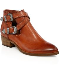 Frye - Ray Studded Leather Booties - Lyst