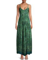Seventy Paisley Maxi Dress - Green
