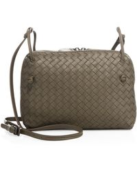700370227826 Bottega Veneta - Intrecciato Leather Double-zip Pillow Bag - Lyst