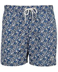 Barbour Crescent Floral Swim Trunks - Blue