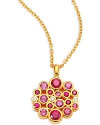 Gurhan - Pointelle Diamond, Multi-stone & 24k Yellow Gold Pendant Necklace - Lyst