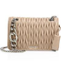 Miu Miu - Club Matelasse Leather Chain Shoulder Bag - Lyst