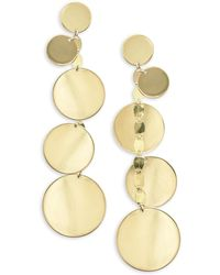 Lana Jewelry - 15 Year Anniversay 14k Gold Disc Earrings - Lyst