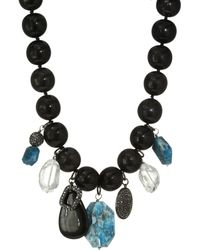 Nest - Horn Bead Teal Apatite Charm Necklace - Lyst