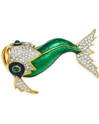 Kenneth Jay Lane - Koi Fish Brooch - Lyst
