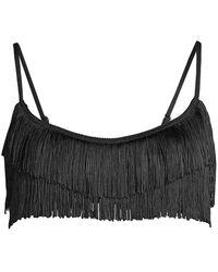 Stella McCartney Fringes Bikini Top - Black