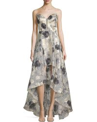 Basix Black Label - Off-the-shoulder High-low Print Gown - Lyst
