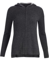Saks Fifth Avenue Collection Two-tone Cashmere Hoodie - Gray