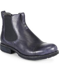 UGG - Gallion Leather Pull-on Ankle Boots - Lyst