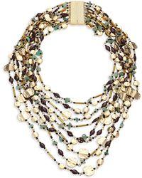 Marina Rinaldi - Beaded Statement Necklace - Lyst