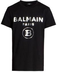 Balmain - Foil Logo T-shirt - Lyst