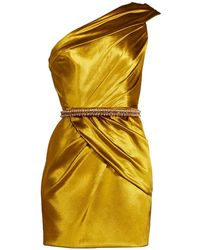 Ralph & Russo One-shoulder Mini Dress - Yellow