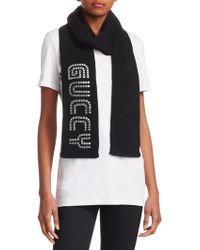 Gucci - Knitted Wool Cable Sega® Font Scarf - Lyst