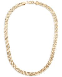 Lana Jewelry 14k Liquid Gold Braided Choker Necklace - Metallic