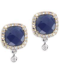Meira T | Blue Sapphire & 14k Yellow Gold Drop Earrings | Lyst