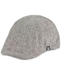 Block Headwear Chambray Driving Cap - Gray