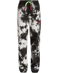 Warm Tie-dye Chill Sweatpants - Black