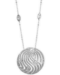 Adriana Orsini   Lush Crystal Pendant Necklace   Lyst
