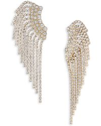 ABS By Allen Schwartz - Pave Fringe Crawler Earrings - Lyst