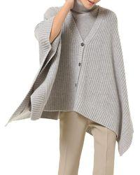 Michael Kors Dolman-sleeve Shaker Knit Cardigan - Gray