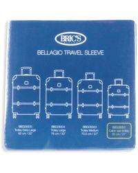 """Bric's Bellagio 30"""" Transparent Luggage Cover - Blue"""