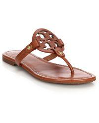 Tory Burch Miller Thong Sandals - Black