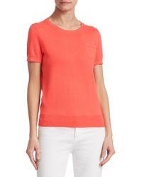 Saks Fifth Avenue - Classic Short-sleeve Sweater - Lyst