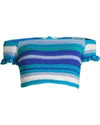 All Things Mochi - Jamie Crochet Stripe Off-the-shoulder Bikini Top - Lyst