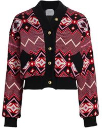 Hayley Menzies Knit Bomber Jacket - Multicolor