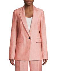 Lafayette 148 New York - Rhoda Linen & Wool Blazer - Lyst
